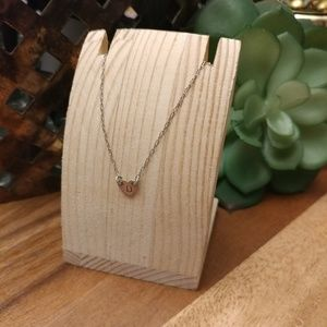 Jewelry - Sterling silver heart necklace w/ initial D